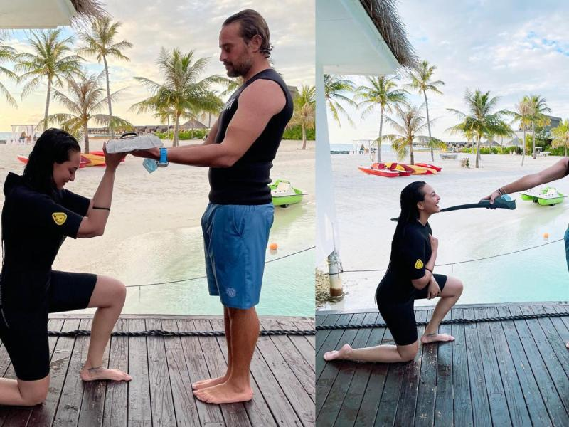 मालदीव में सोनाक्षी सिंहा ने टेके इस शख्स के सामने घुटने, जानिए कौन है ये शख्स