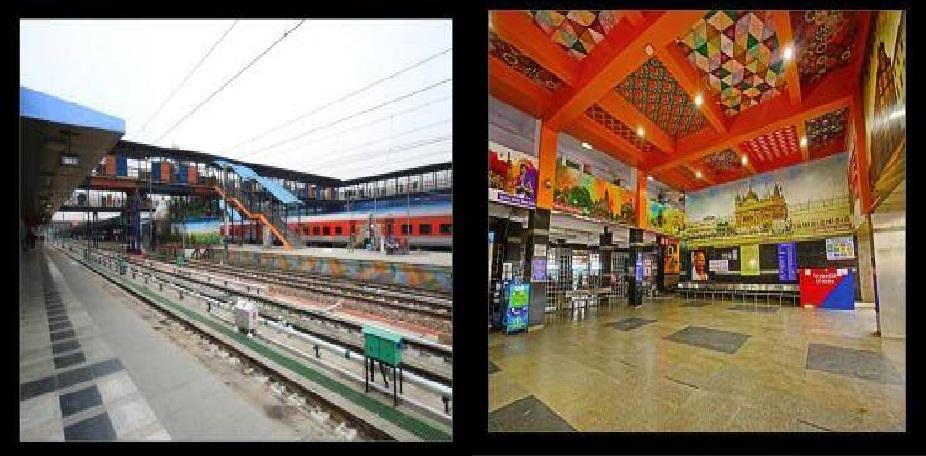 रेलमंत्री ने वायरल की दिल्ली रेलवे स्टेशन की तस्वीरें, अब दिखने में एयरपोर्ट को छोड़ देगा पीछे