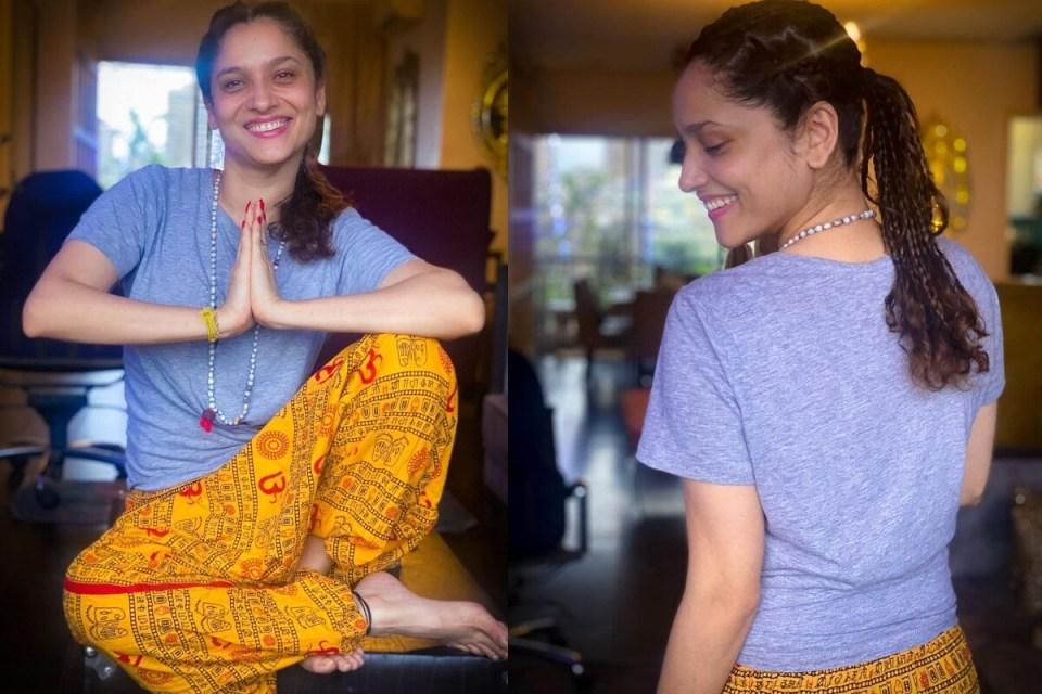 अंकिता लोखंडे 'तितली' गाने के बाद पीले साड़ी में 'धक धक' गाने पर की डांस, वीडियो वायरल