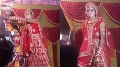 Dulhan Ka Video: स्टेज पर खड़ी थी दुल्हन, दूल्हे के दोस्तों ने किया ऐसा गंदा मजाक, भड़क कर की कुछ ऐसा.....