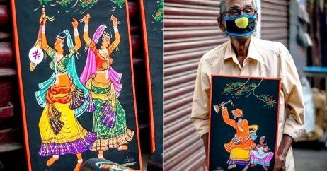 बुढ़ापे में बच्चों ने छोड़ा साथ तो अब सड़क पर पेंटिंग्स बेचकर कमा रहे हैं रोटी, जानिए बेसहारा पिता की कहानी