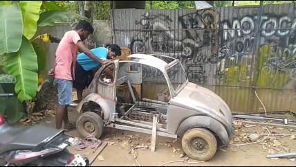प्रेरणा: नहीं खरीद पाए महंगी कार तो 40 हजार की लागत से खूद ही कर दी Volkswagen तैयार