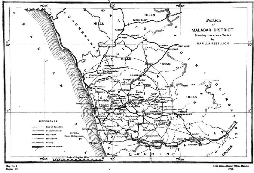 Moplah rebellion map 1