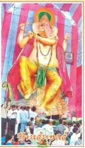Biggest Ganesh idol for Ganesh Chaturthi 2010 - 72 feet Ganapathi idol in Gajuwaka Vizag