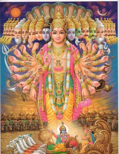 lord vishnu vishwarupam