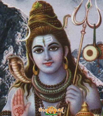 snake around shiva's neck