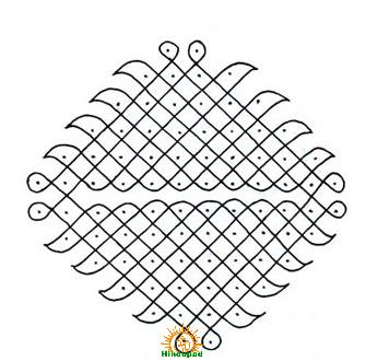 muggu rangoli design 12 kolam