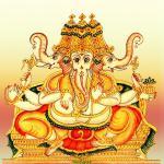 Trimukha Ganapati, Three faced Ganesha