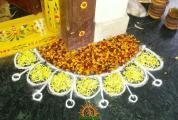 Diwali rangoli entrance corner
