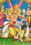 Lord Narasimha Swamy killing Hiranyakashipu