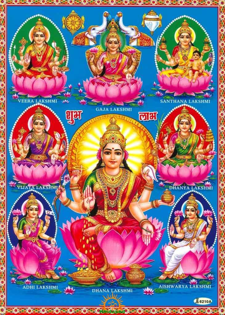 Ashtha Lakshmi Goddesses
