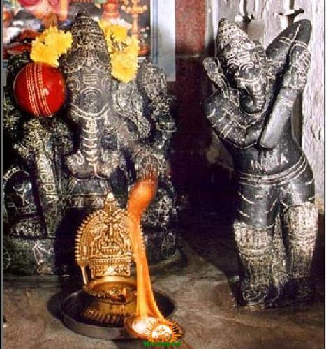 Cricket Ganesha Temple in Chennai Annanagar