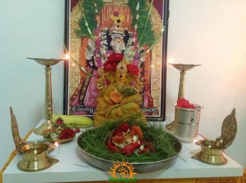 Ganapathi and Durva grass