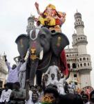 Ganesh Nimajjanam Yatra at Charminar Hyderabad