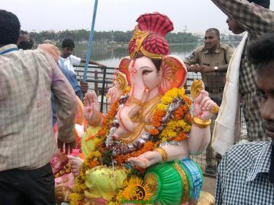 Ganesh immersion in Hyderabad 6