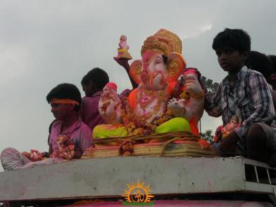Ganesh immersion in Hyderabad