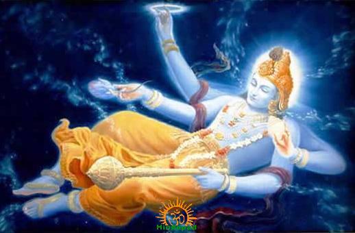 Lord Vishnu cosmic sleep