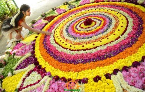 Onam festival in Kerala – Pookalam
