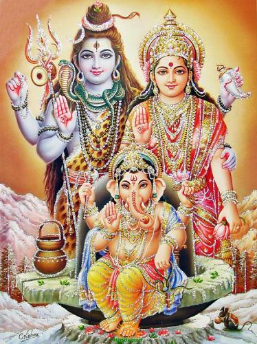 Shiva Parvati Ganesha