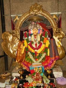 Gayatri Mata Alankaram in Gayatri Peetham - 2nd day