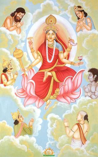 Mata Siddhidhatri Ninth Navadurga aspect