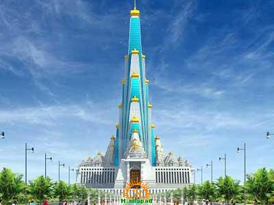 World's Tallest Temple at Mathura by ISKCON