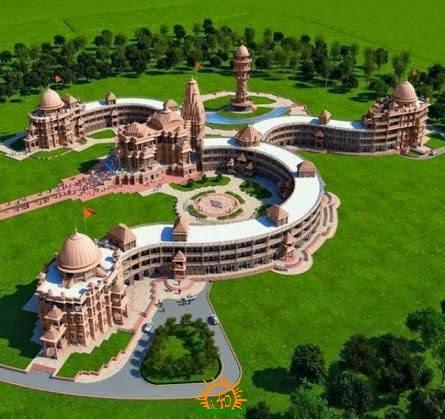 Om Shaped Temple, Pali, Rajasthan