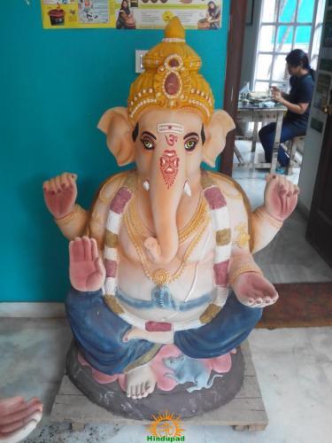 Eco-friendly Clay Ganesh idols in Hyderabad 5-feet