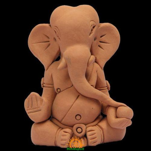Eco friendly Ganesha idol