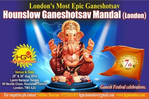 Hounslow Ganeshotsav Mandal Ganesha in 2014 London no-watermark