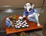 Lord Ganesha as Chess Player