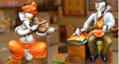 Lord Ganesha as Musician, Doctor