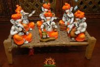 Lord Ganesha in Archestra playing various intruments