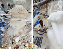 Making Khairatabad Ganapati 2014 5