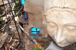 Making Khairatabad Ganapati 2014