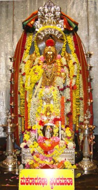 Skandamata Navadurga Alankara 5th day Navratri at Horanadu Temple no-watermark