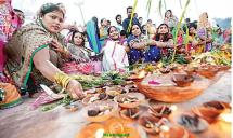 Chhath Puja at Tankbund Hyderabad