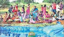 Chhath Puja at articial lake