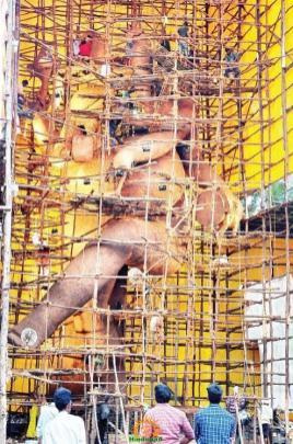 63-feet Ganesh idol Dundee Ganesh Vijayawada