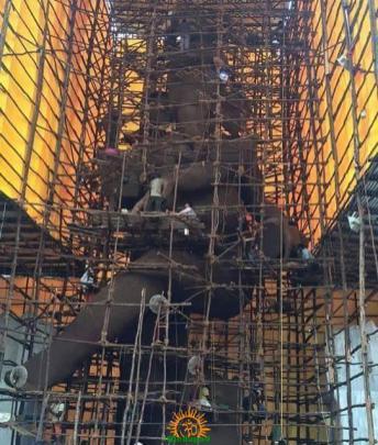 63-feet Vijayawada Ganesh idol 2015