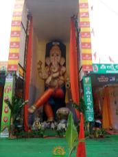 63 feet ganapathi statue in VIjayawada