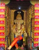 63 feet tall Ganesh at Vijayawada 2015