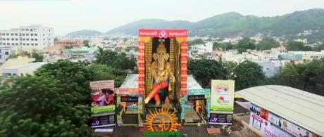 63 feet tall Ganesha idol in Vijayawada