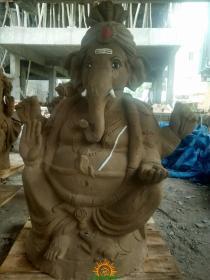 Clay Ganesha idol 6