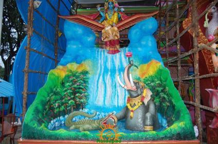 Khairatabad Ganesh 2015 Gajendra Moksham