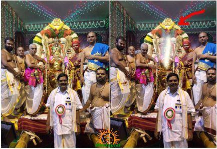 Miracle light rays at TTD Brahmotsavam