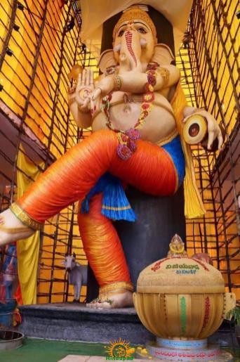 Vijayawada's 63 feet Ganesh idol 2015