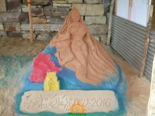 Krishna Pushkaralu Sand Sculpture 3