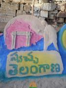 Swaccha Telangana Sand Sculpture