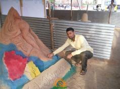 Tarani Mishra Sand Sculpture Krishna Pushkaralu Alampur